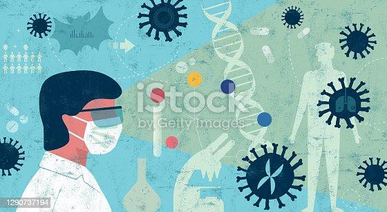 istock Scientist Researching Coronavirus Concept 1290737194