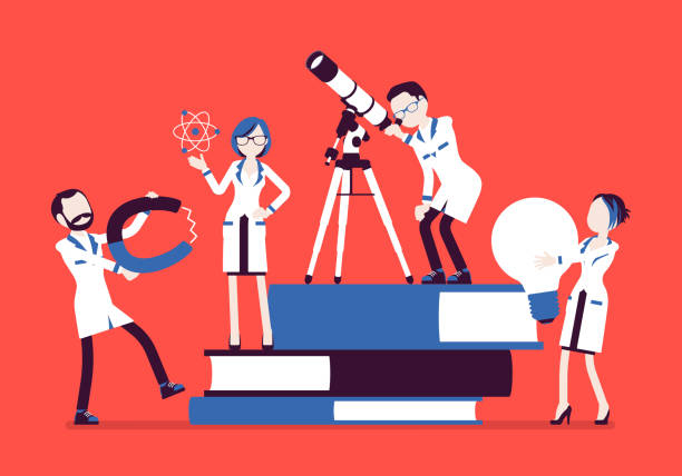 STEM research stock illustrations