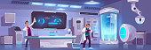 istock Scientists in lab experiment, scientific research 1299731260