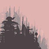 Alien / future skyline