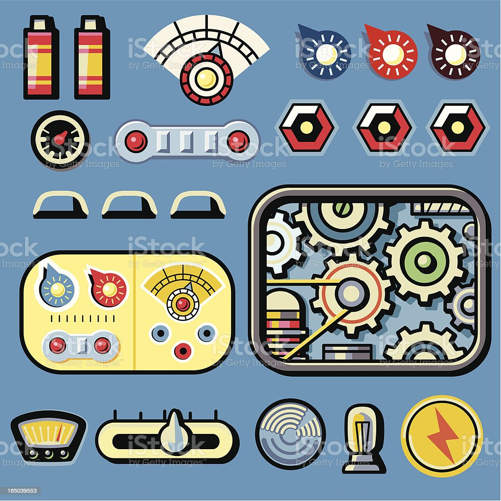 Sci-Fi Dials vector art illustration