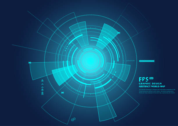 sci-fi future user interface. vector illustration - radar stock illustrations