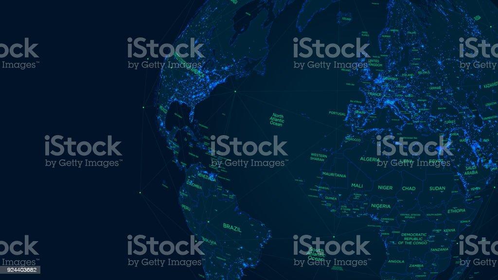 Scifi futuristic global network world map vector illustration stock sci fi futuristic global network world map vector illustration royalty free scifi futuristic gumiabroncs Image collections