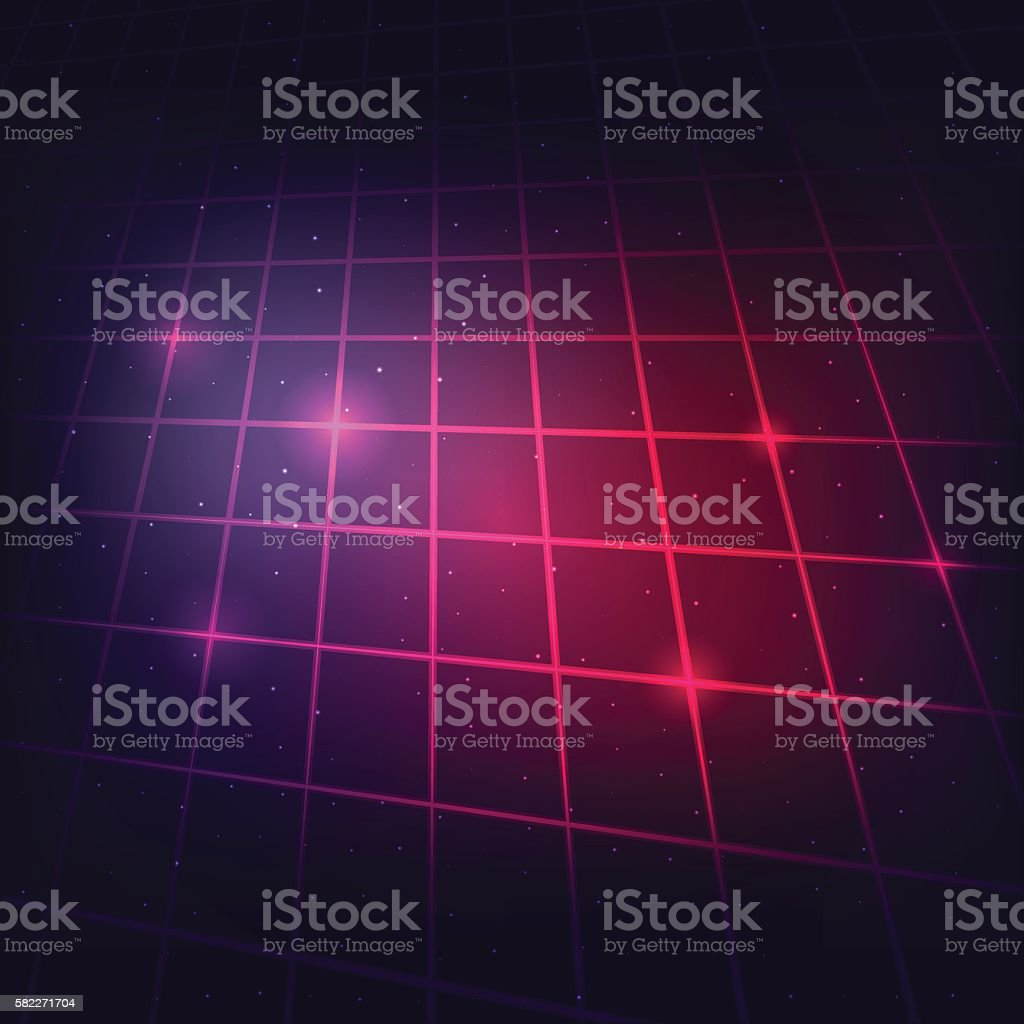 sci-fi grid background2 vector art illustration