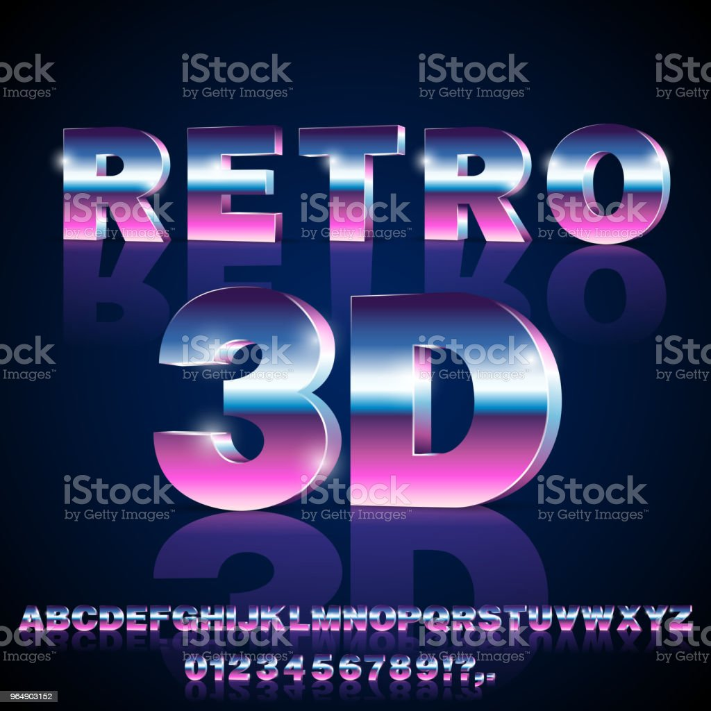 Sci-Fi retro font royalty-free scifi retro font stock vector art & more images of 1980-1989
