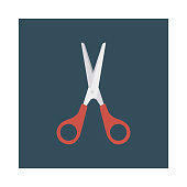 scissor   cut  stationary