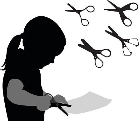 Scissors And Craft Paper