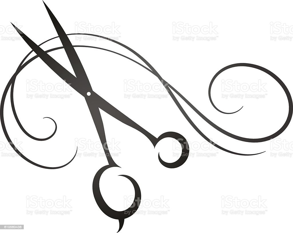 scissors and hair sign for beauty salon stock vector art more rh istockphoto com ladies beauty parlour clipart hair and beauty salon clipart