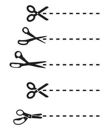 Scissors Cutting Lines