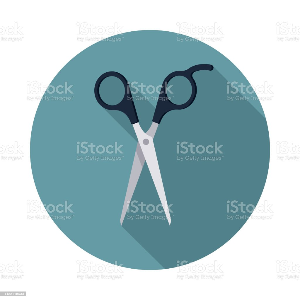 Scissors Hairdressing Icon vector art illustration