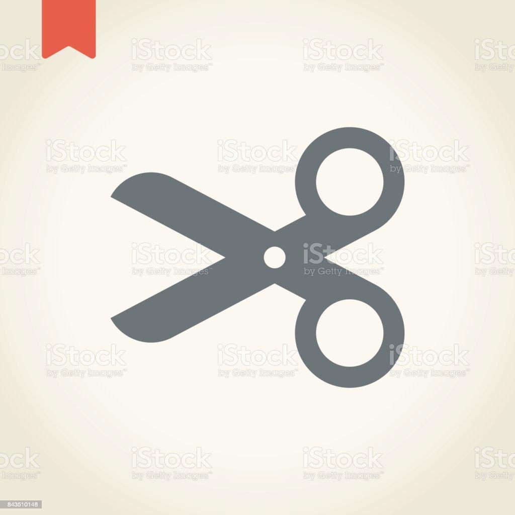 Scissors icon vector art illustration