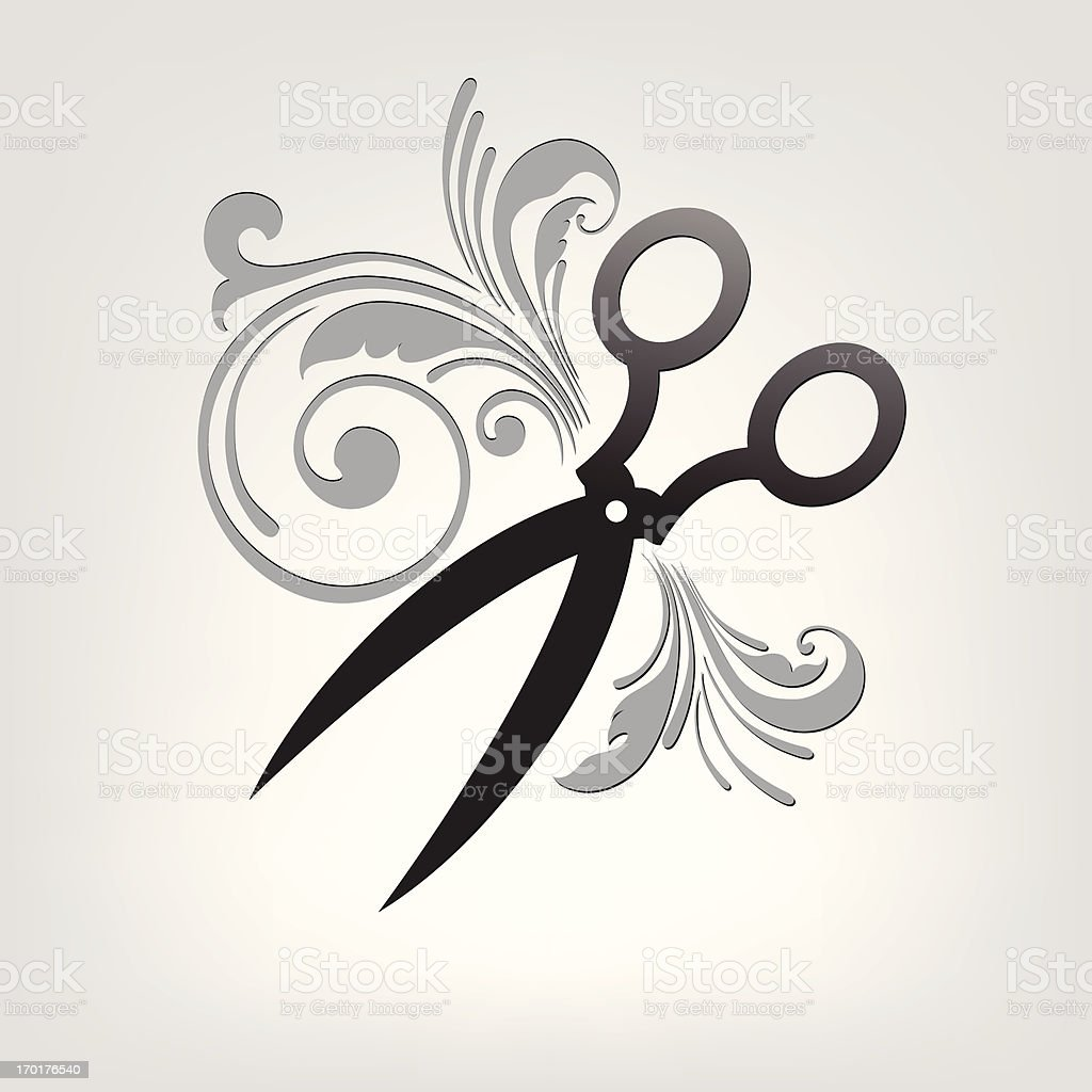 scissors. stylization. royalty-free stock vector art