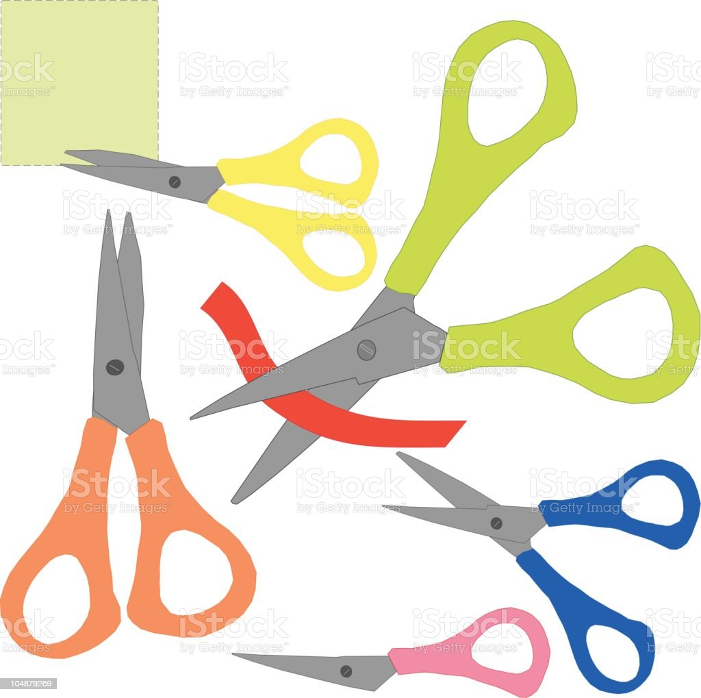 Scissors (Vector) royalty-free scissors stock vector art & more images of at the edge of
