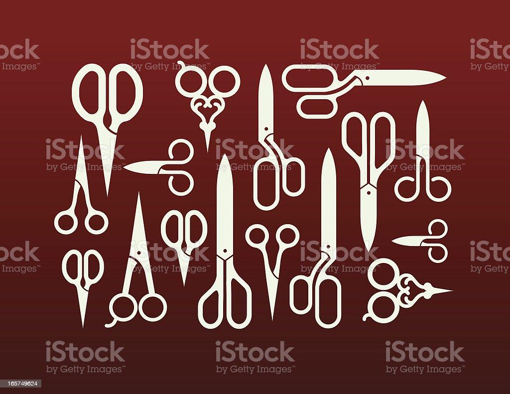 Scissors royalty-free stock vector art
