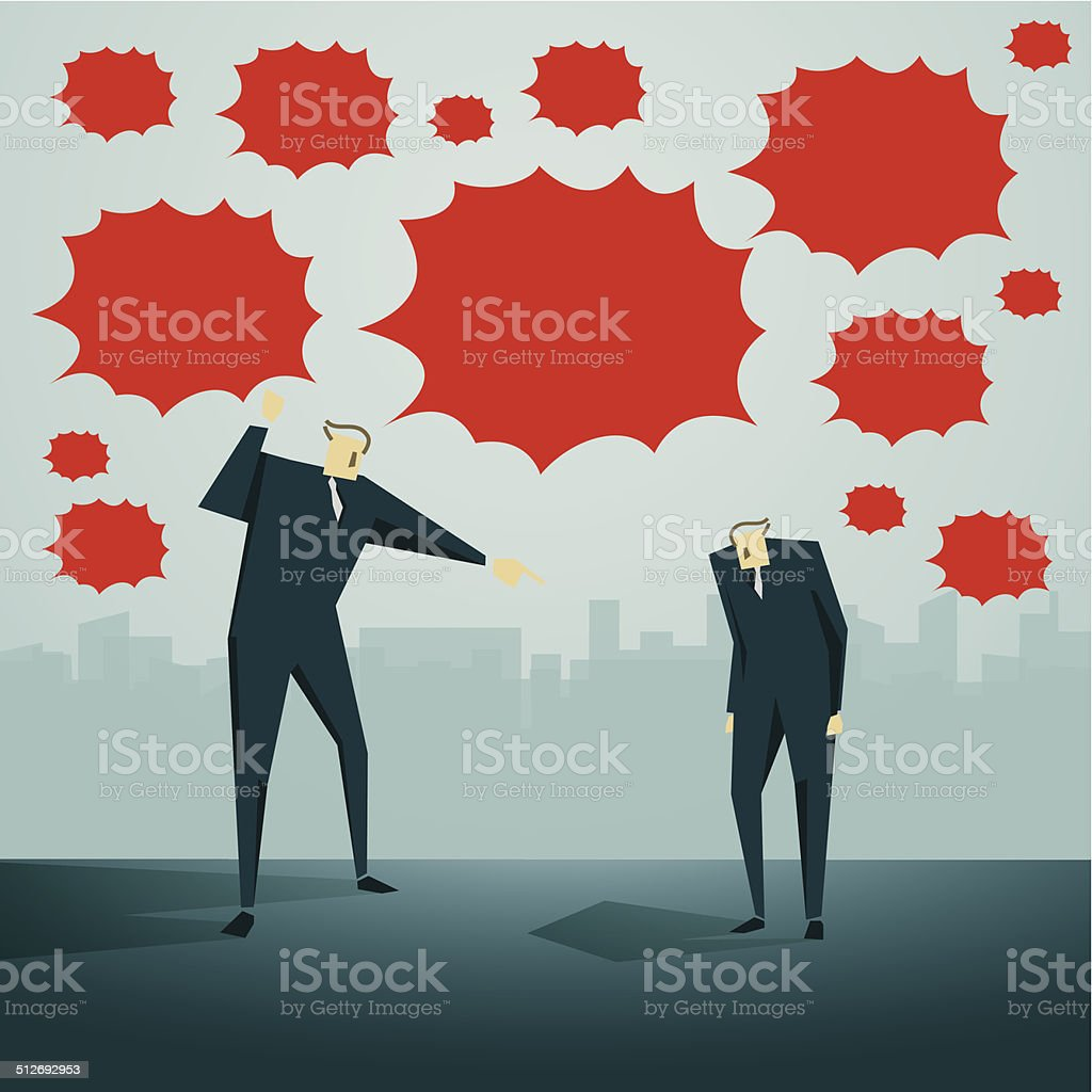 Scolding vector art illustration