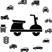 scooter and transportaion icon ring