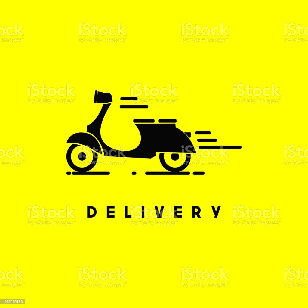 Scooter Delivery Vector Template Design royalty-free scooter delivery vector template design stock vector art & more images of business