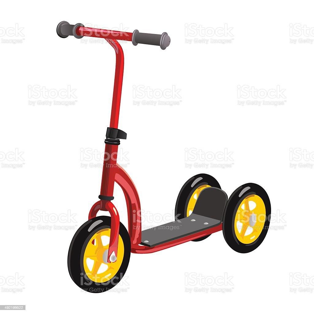 scooter for children vector art illustration