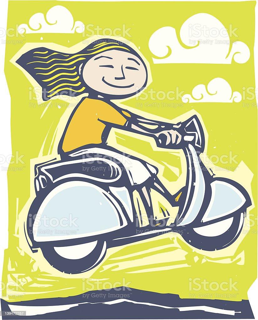 Scooter fun vector art illustration