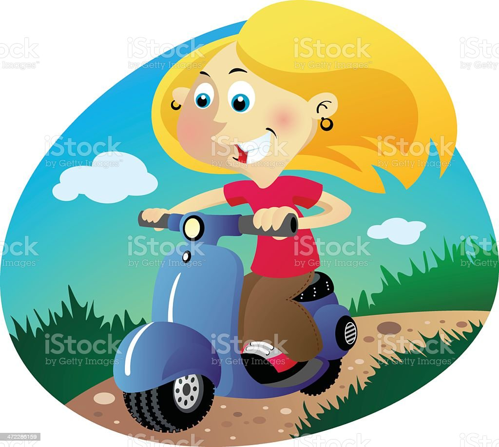 Scooter Girl royalty-free scooter girl stock vector art & more images of adult