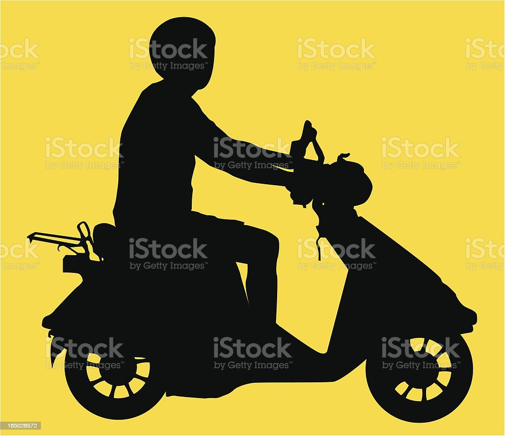 Scooter Guy ( Vector ) royalty-free stock vector art