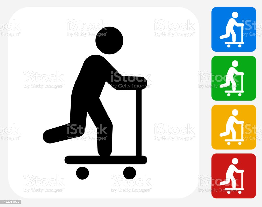 Scooter Icon Flat Graphic Design vector art illustration