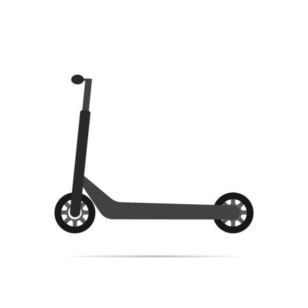 illustrazioni stock, clip art, cartoni animati e icone di tendenza di scooter icon with shadow. eps10 - monopattino elettrico