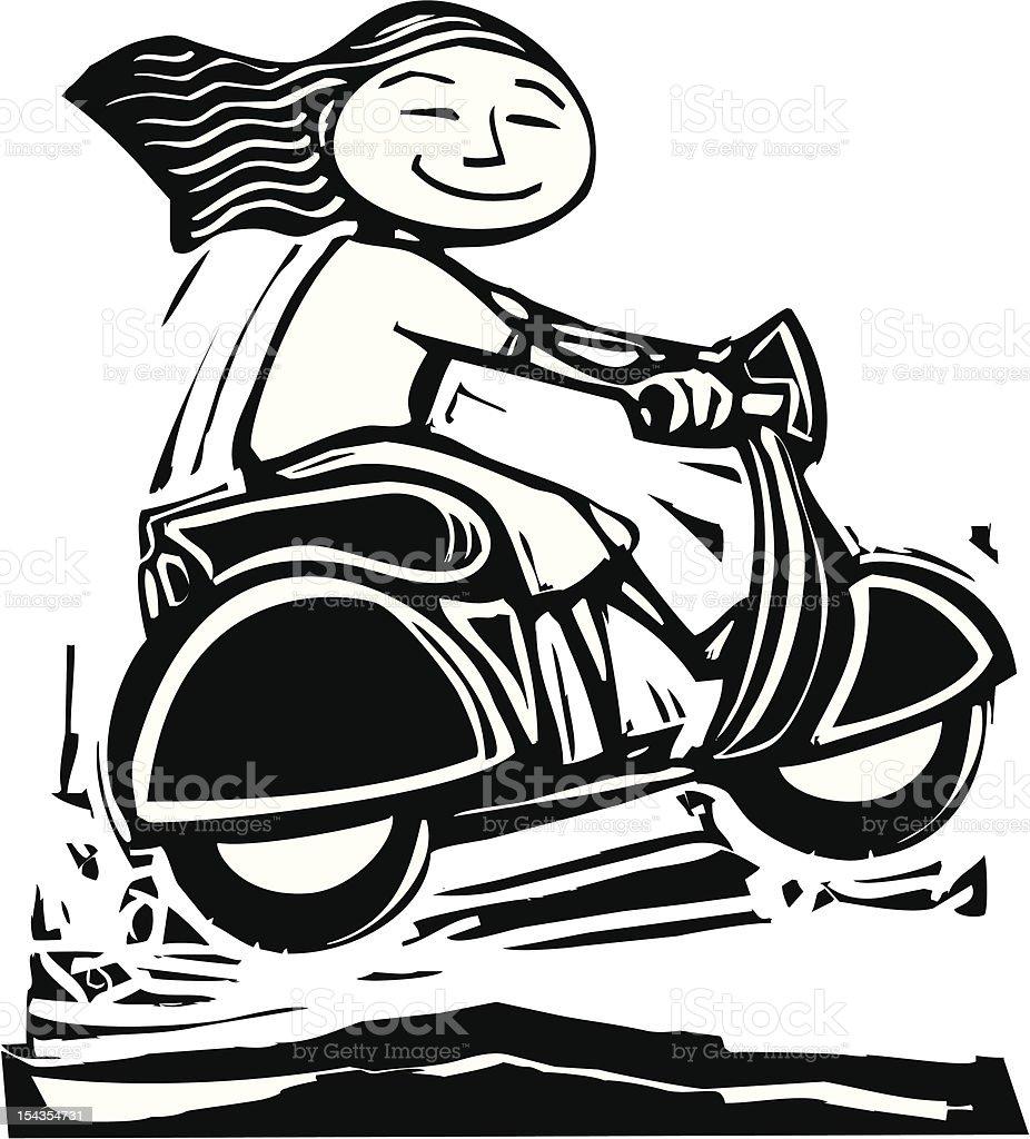Scooter Jump vector art illustration