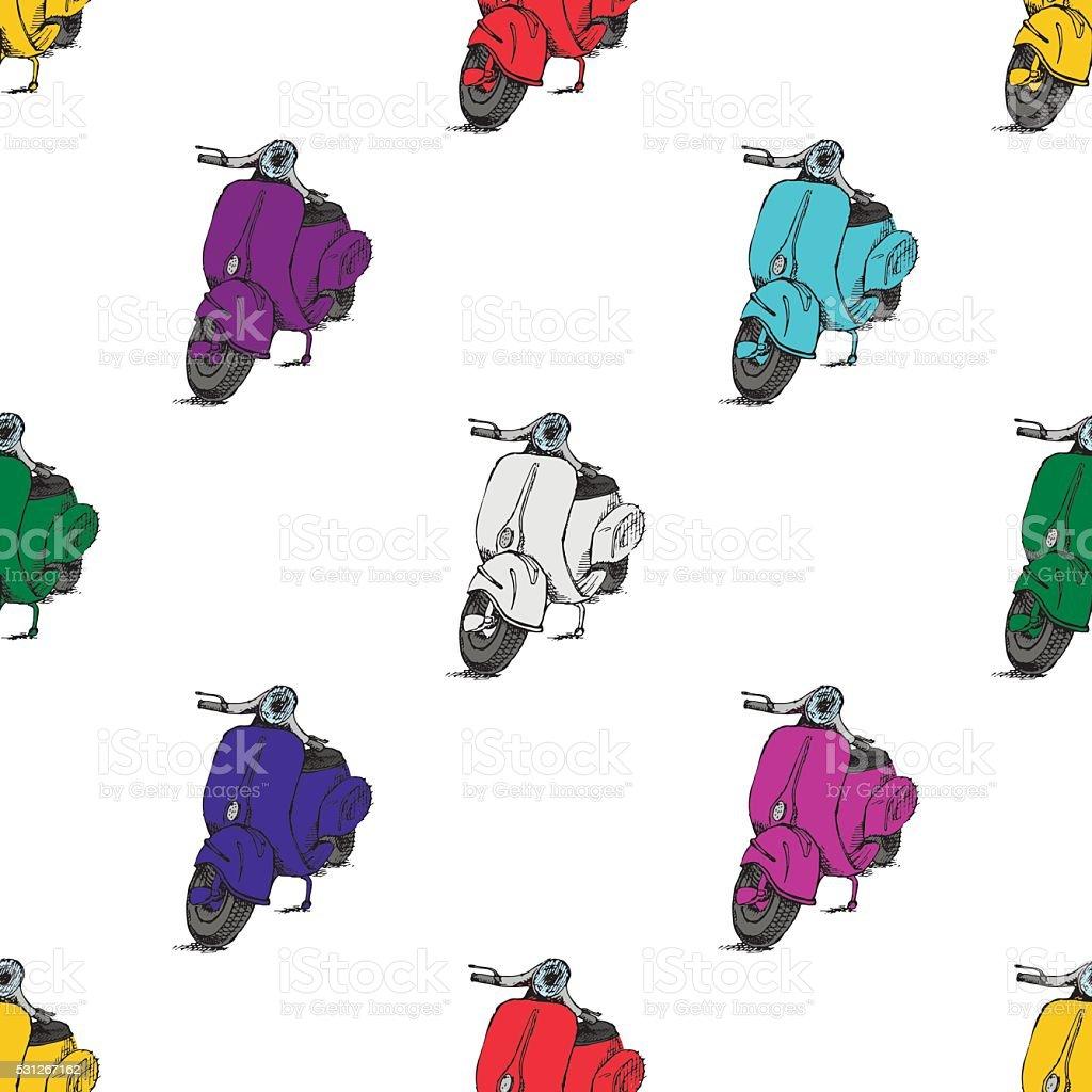 Scooter motorbike Vespa vector art illustration