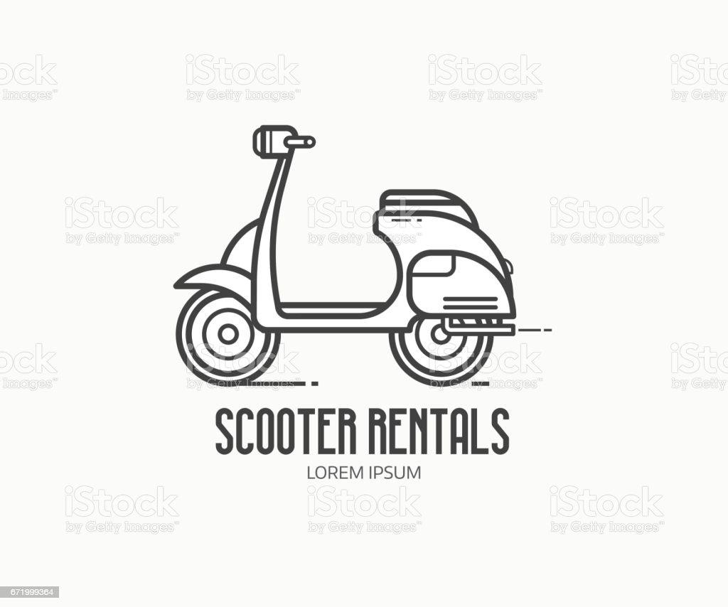 Scooter Rentals  Template vector art illustration