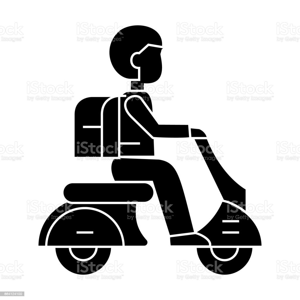 scooter travel  icon, vector illustration, sign on isolated background royalty-free scooter travel icon vector illustration sign on isolated background stock vector art & more images of 1920-1929