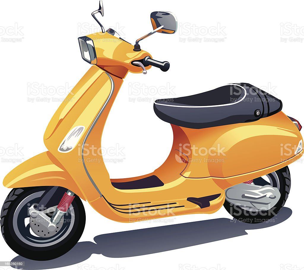 Scooter vector art illustration
