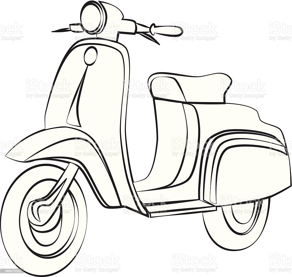 Scooter royalty-free scooter stock vector art & more images of antique