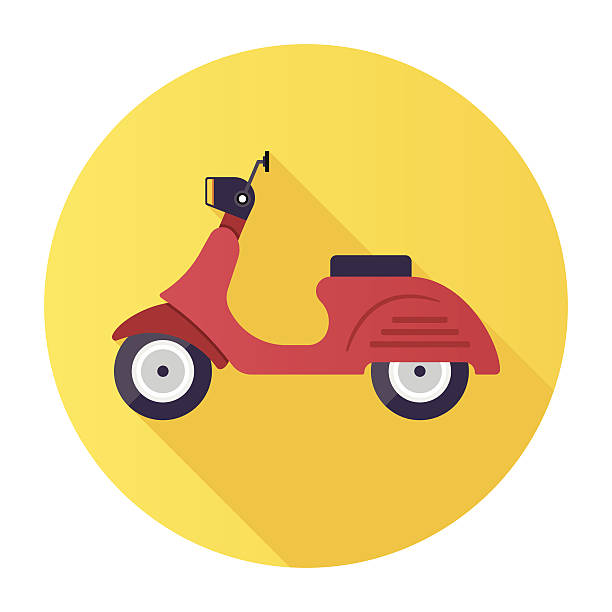 scooter - moped stock-grafiken, -clipart, -cartoons und -symbole