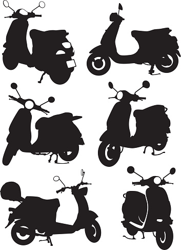 Scooters shadow style graphics