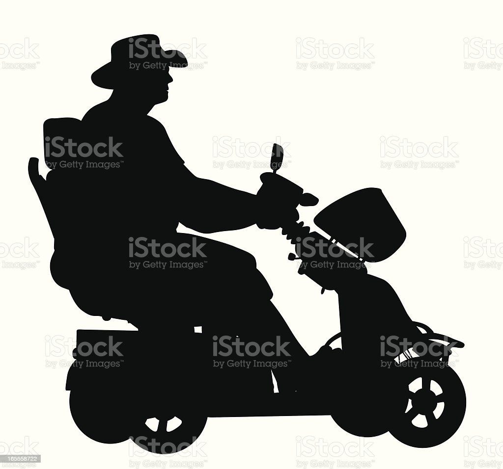 Scooting Vector Silhouette vector art illustration