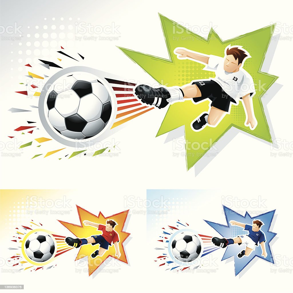 Marque um gol! - ilustração de arte em vetor