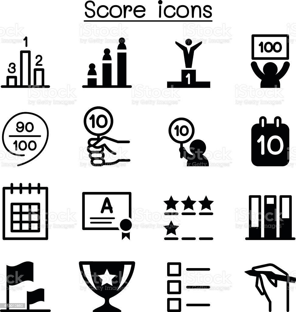 Score icons vector art illustration