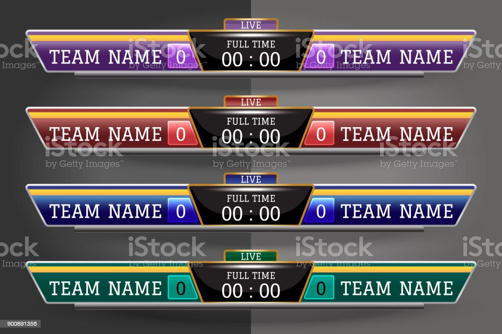 Scoreboard Digital Screen Graphic Template For Broadcasting Of