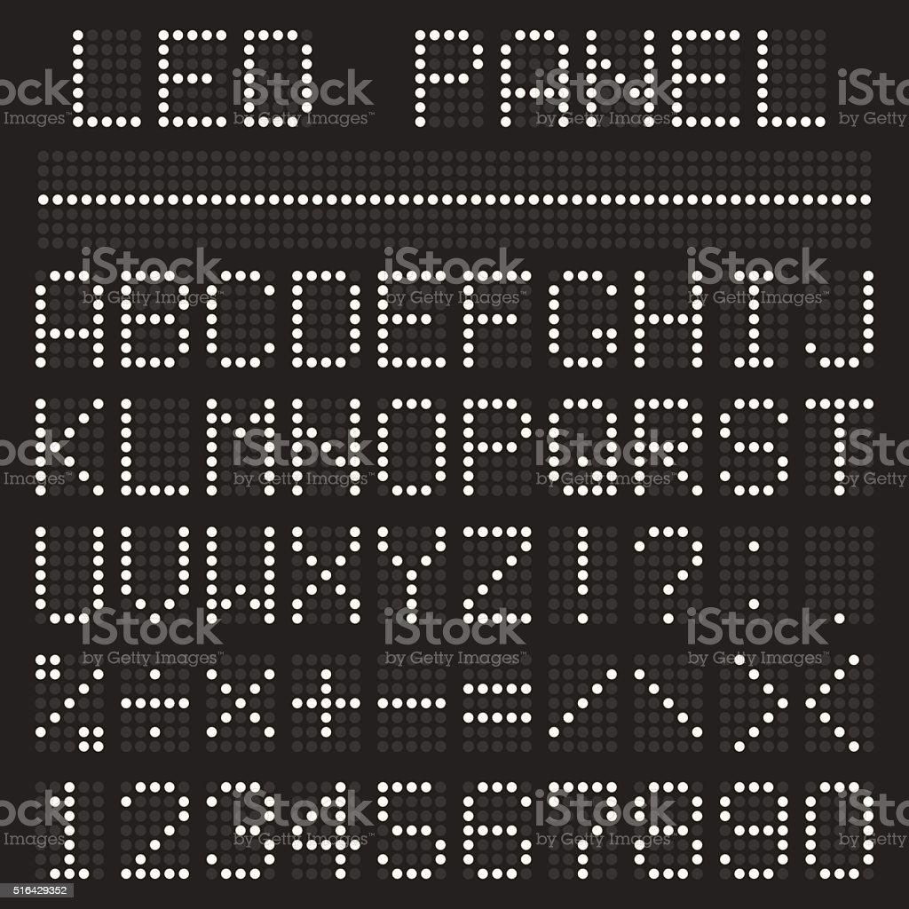 Scoreboard font alphabet vector art illustration