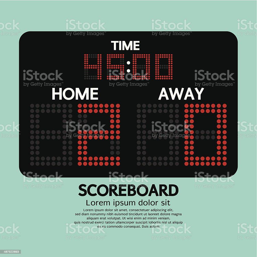 Scoreboard Sport vector art illustration