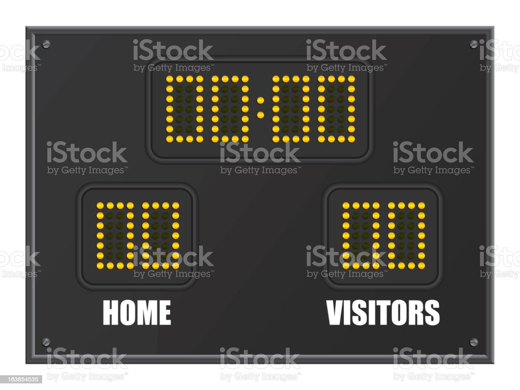 scoreboard royalty-free stock vector art