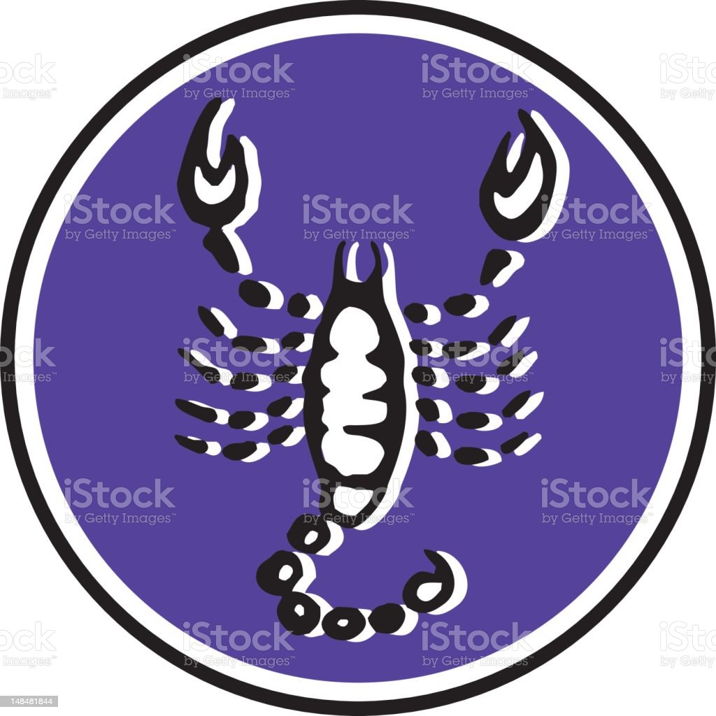scorpio - 7/12 vector art illustration