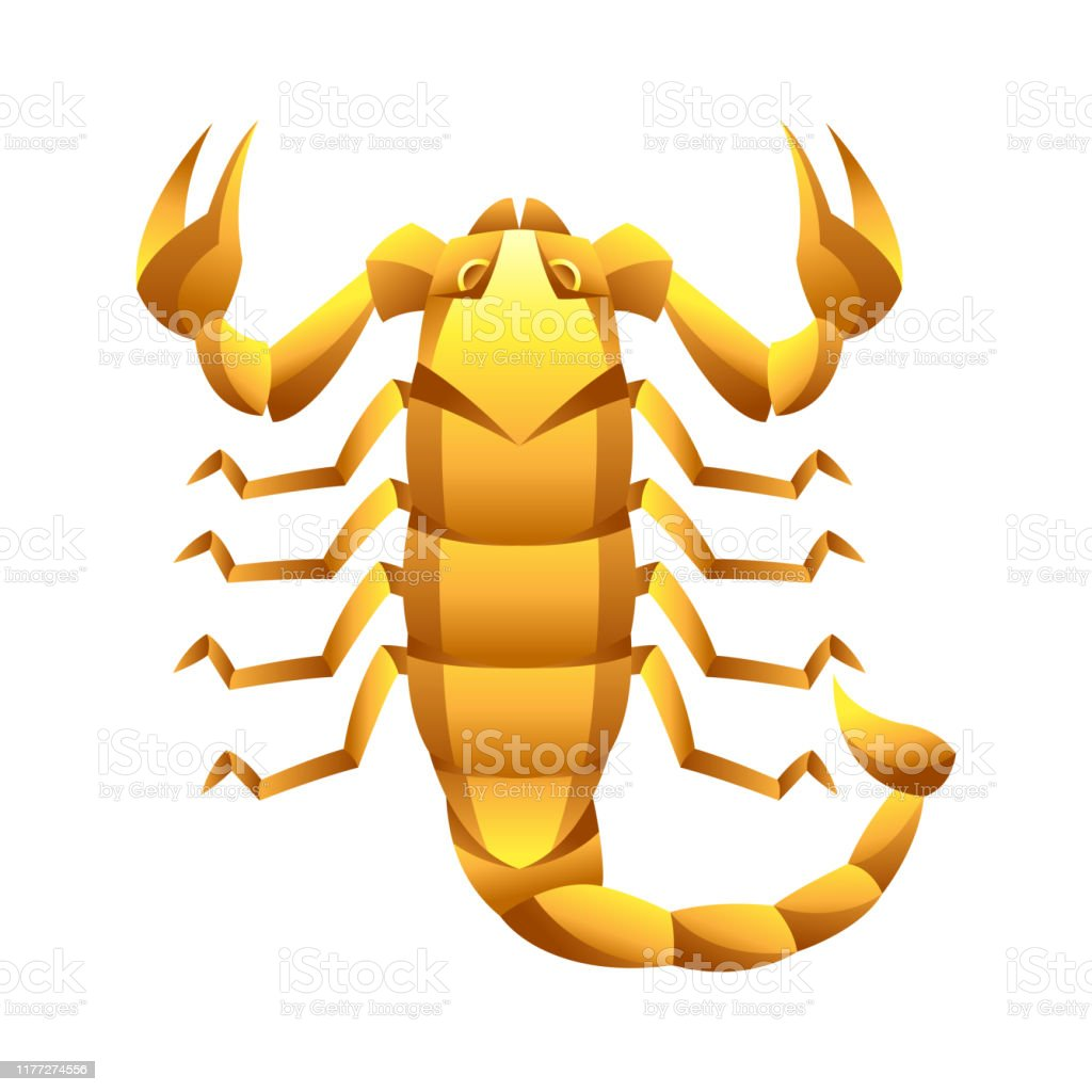 Dibujo De Un Escorpion Dorado ilustración de signo del zodíaco scorpio símbolo del