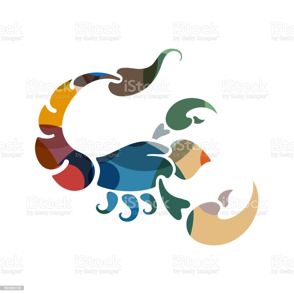 Scorpio zodiac Sign vector art illustration
