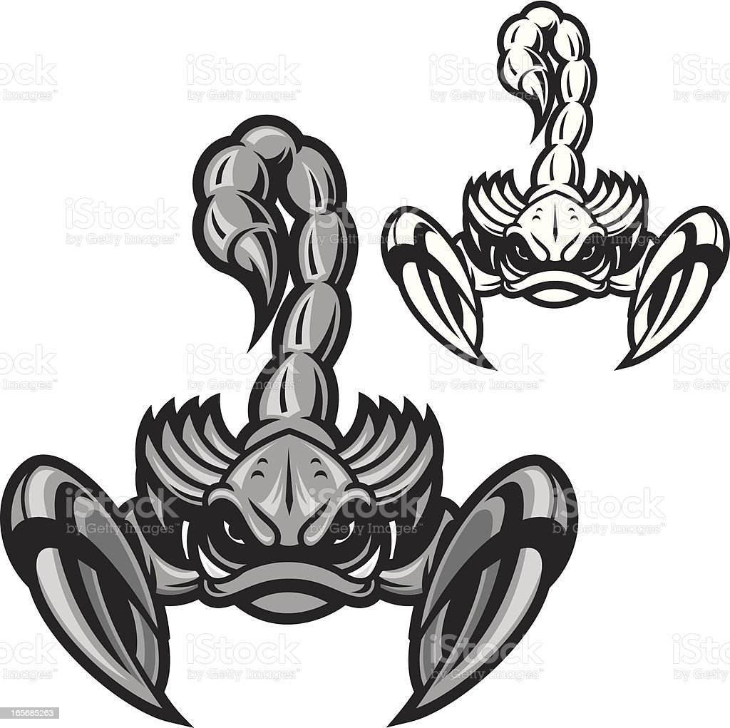 Scorpion B&W vector art illustration