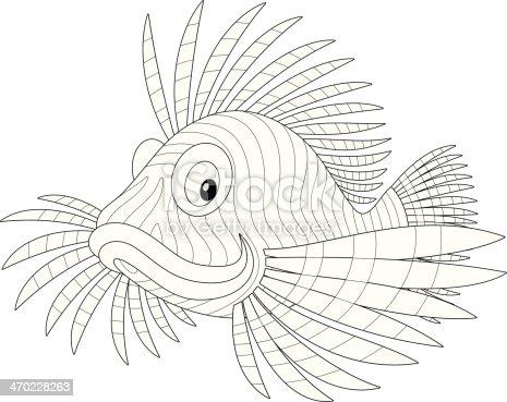 Pesce scorpione immagini vettoriali stock e altre for Disegni da colorare pesci tropicali