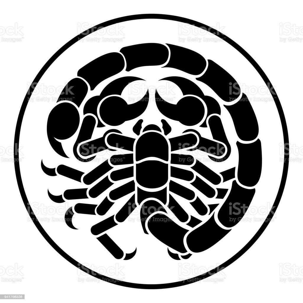 Escorpión Escorpio zodiaco horoscopo Astrologia - ilustración de arte vectorial