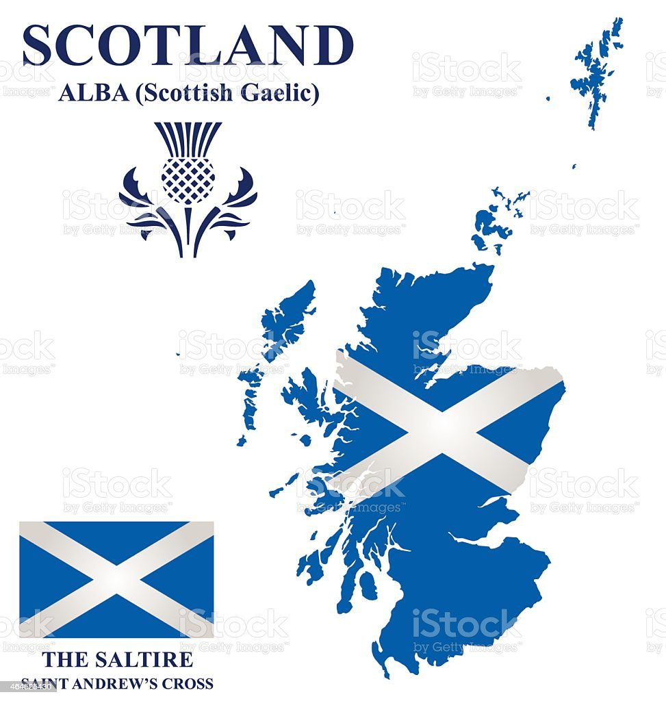 Scotland Flag vector art illustration