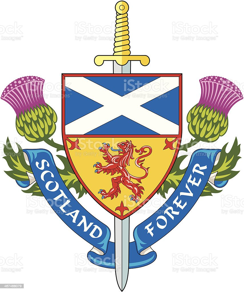Scotland forever ( Symbol of Scotland ) vector art illustration